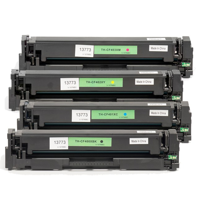 HP 201X/CF400XL Compatible Toner 4-Pack