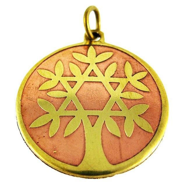 Brass Star Charm Tree Of Life Talisman Pendant Individual Pendants