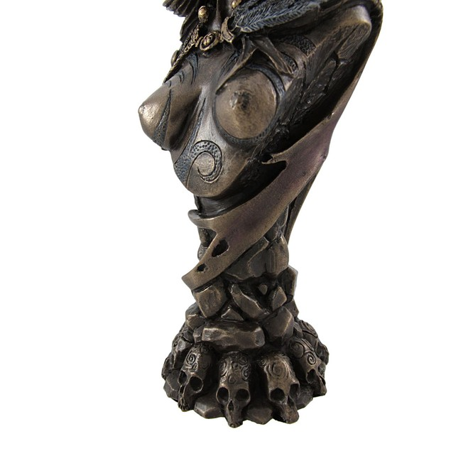 Celtic Morrigan Goddess Of War Bust Statue Bust Sculptures