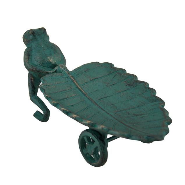 The Long Haul Frog Pulling Leaf Cart Decorative Statues