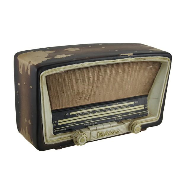 Antique Tube Radio Vintage Finish Decorative Coin Toy Banks