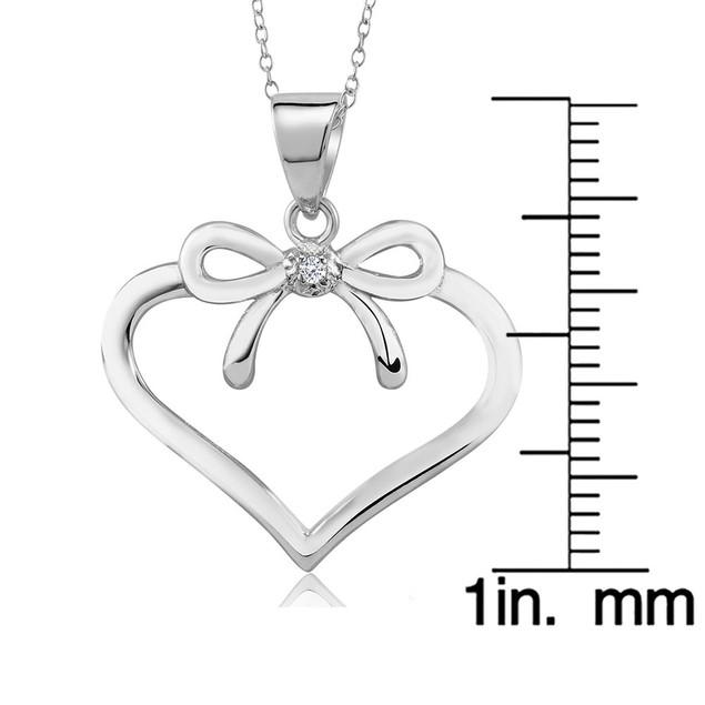 .20 Ct Diamond Bow Heart Necklace