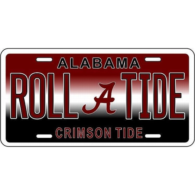 "Alabama Crimson Tide NCAA ""Roll Tide"" License Plate"