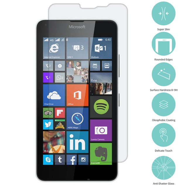 Nokia Lumia 640 XL Tempered Glass Film Screen Protector Clear