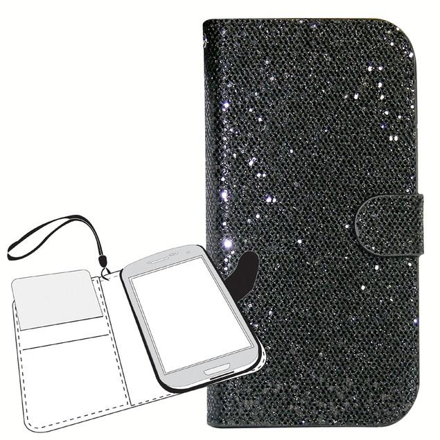 Glitter Wallet Folio Case for Samsung Galaxy
