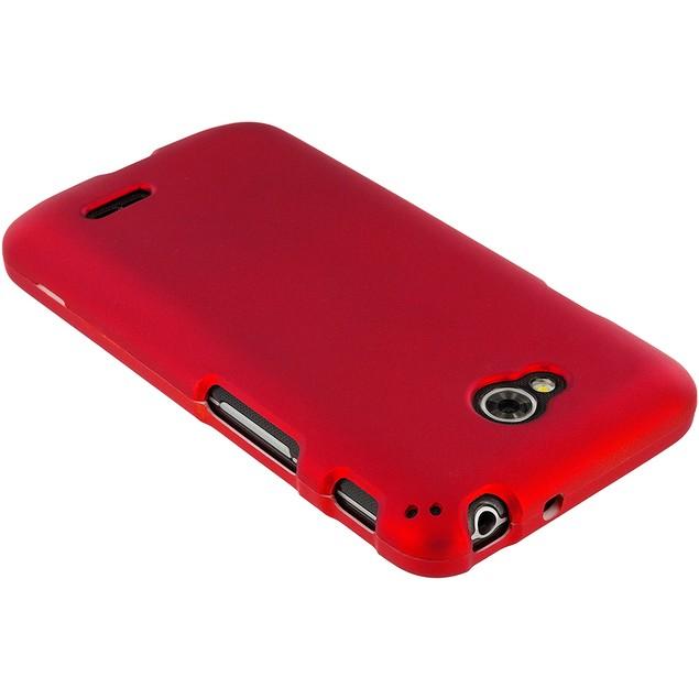 LG Optimus L70 Hard Rubberized Case Cover