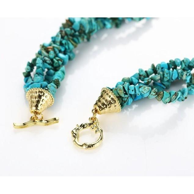 Majestical Turquoise Pebble Starfish Necklace