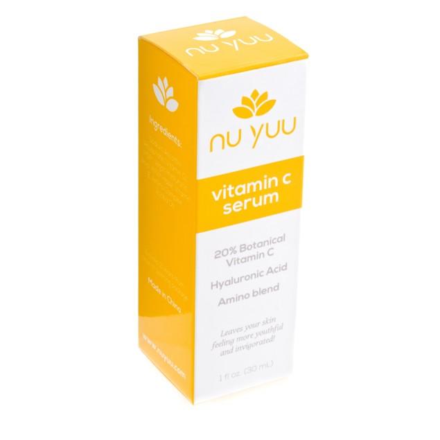 Nu Yuu 20% Vitamin C Facial Serum w/ Hyaluronic Acid + Amino Blend
