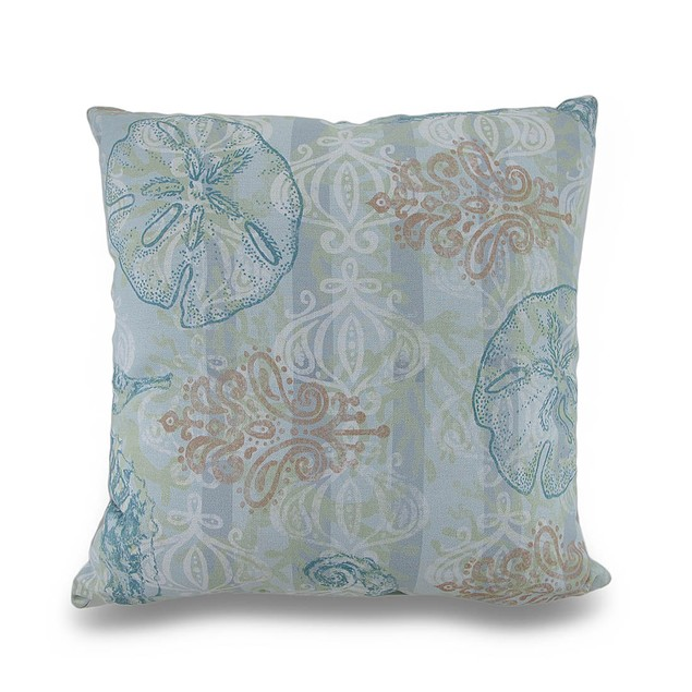 Boho Coastal Seahorse Ocean Themed 18In. Patio Furniture Pillows