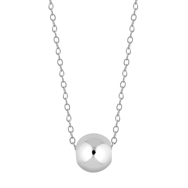 Sterling Silver Bead Ball Necklace