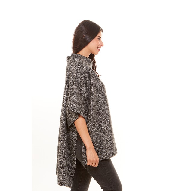 Loose Fit Fashionable Poncho Style Sweater