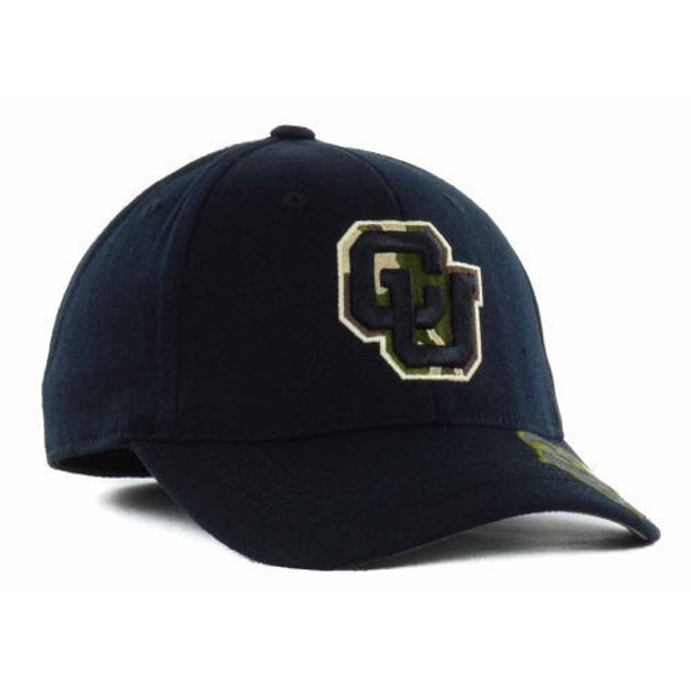 """Colorado Buffaloes NCAA TOW """"Dog Tag"""" Stretch Fitted Hat"""