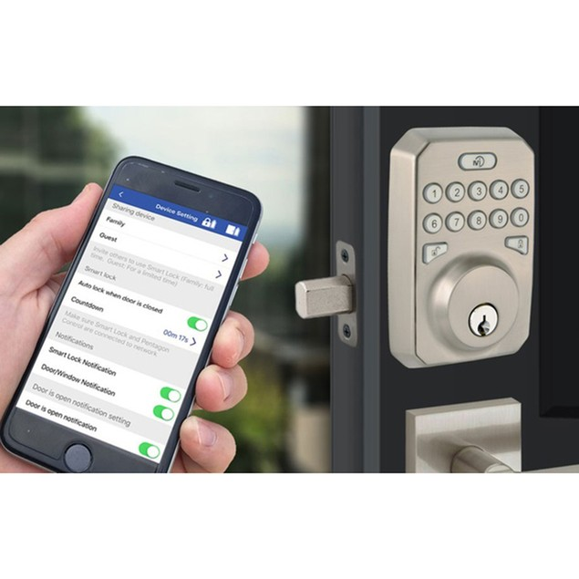 MiLocks Gen2 Smart Lock, Hub & Sensor Bundle (Apple/Android Compatible)