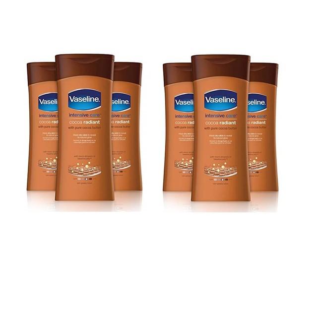 6-Pack Vaseline Essential Moisture Cocoa Radiant Lotion 200ml