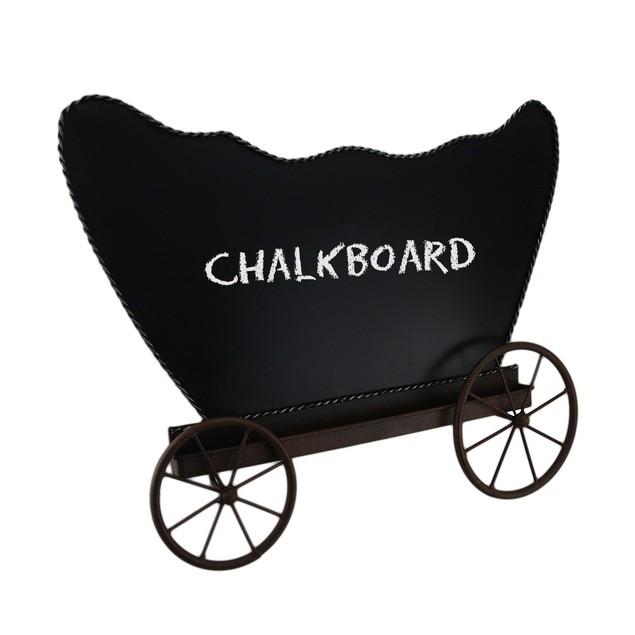 19 In. Western Pioneer Wagon Free-Standing Chalkboards