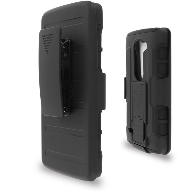 LG LG Leon Hybrid Heavy Duty Case Cover Belt Clip Robot Holster