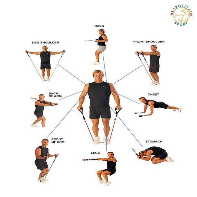 12-Piece Set Resistance Exercise Bands