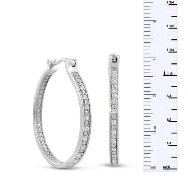 1/4 Carat Diamond Hoop Earrings