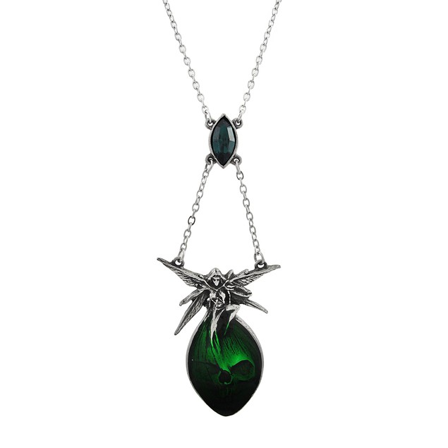 Alchemy Gothic Absinthe Fairy And Skull Necklace Womens Pendant Necklaces