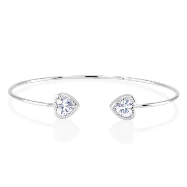 Cubic Zirconia Open Cuff Bracelets - 3 Styles
