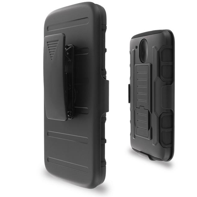 HTC Desire 526 Hybrid Heavy Duty Case Cover Belt Clip Robot Holster