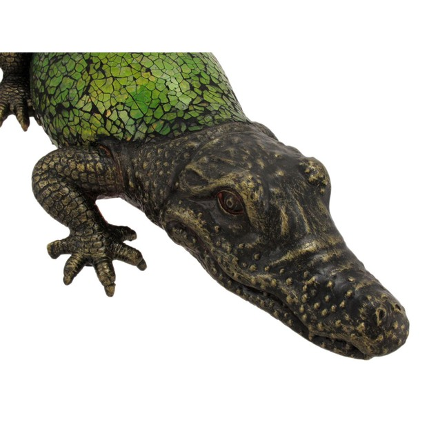Green Crackle Glass Alligator Table Accent Lamp Accent Lamps