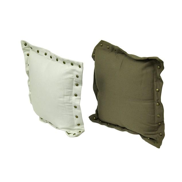 Set Of 4 Stud Trim Decorative Throw Pillows Throw Pillows