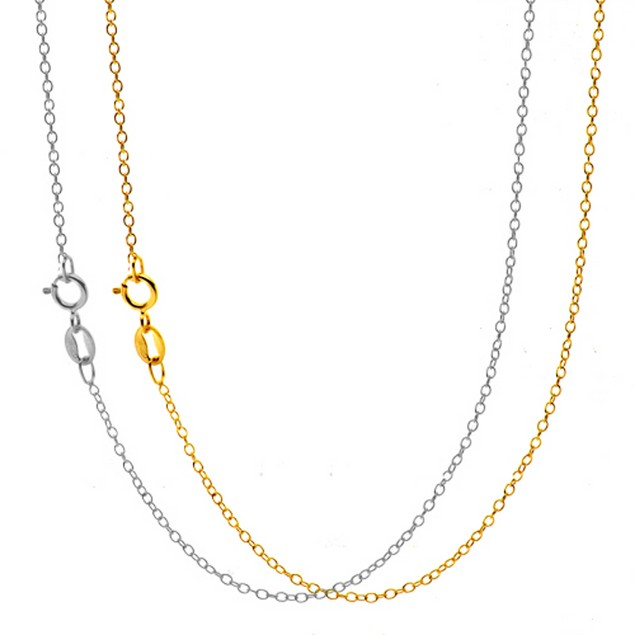 4-Pack: White & Yellow Gold Plated Chains