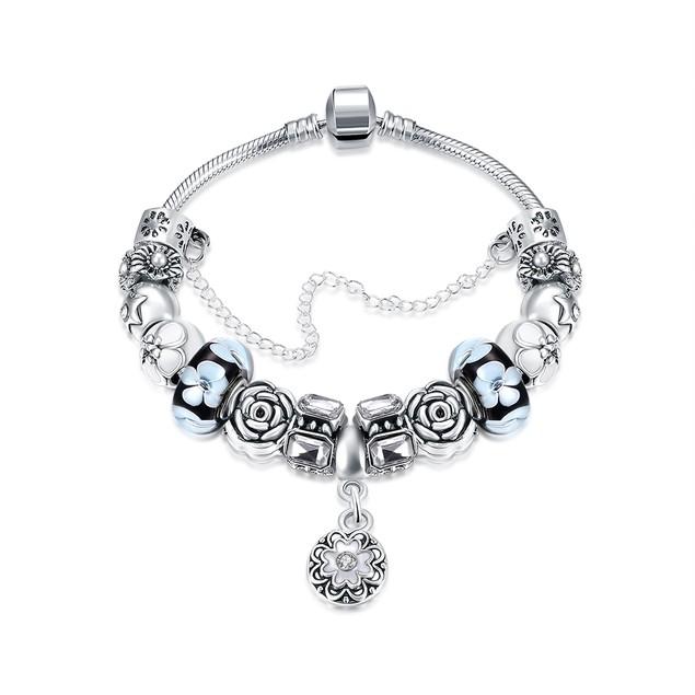 Royal Floral Petite Emblem Designer Inspired Bracelet