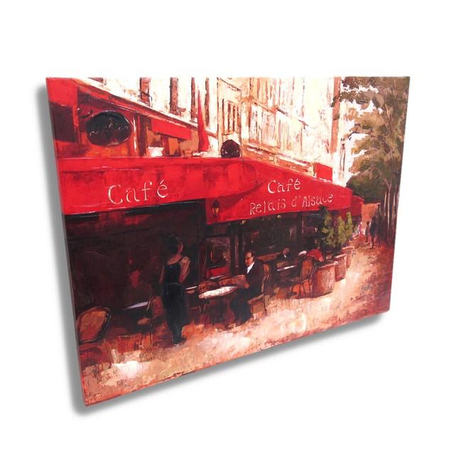 French Sidewalk Cafe Canvas Wall Art Print Prints