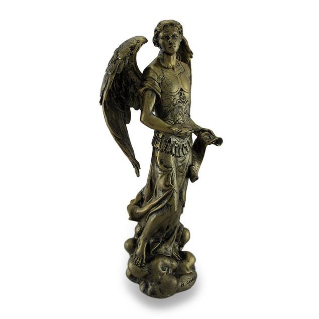 Saint Gabriel Holding Quill And Parchment Bronze Statues