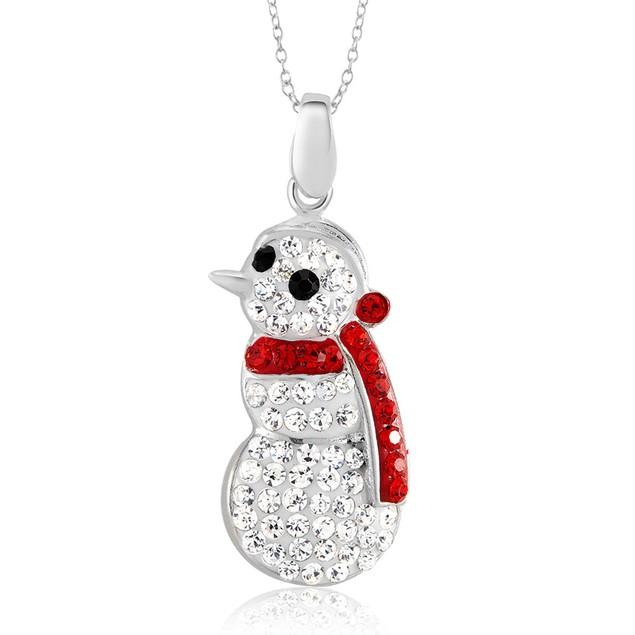 Crystal Elements Snowman Necklace