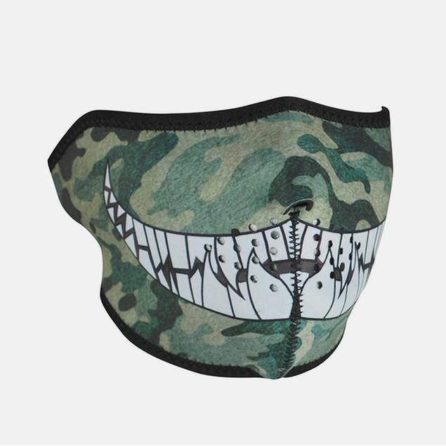 Neoprene 1/2 Face Mask - Camo with Teeth