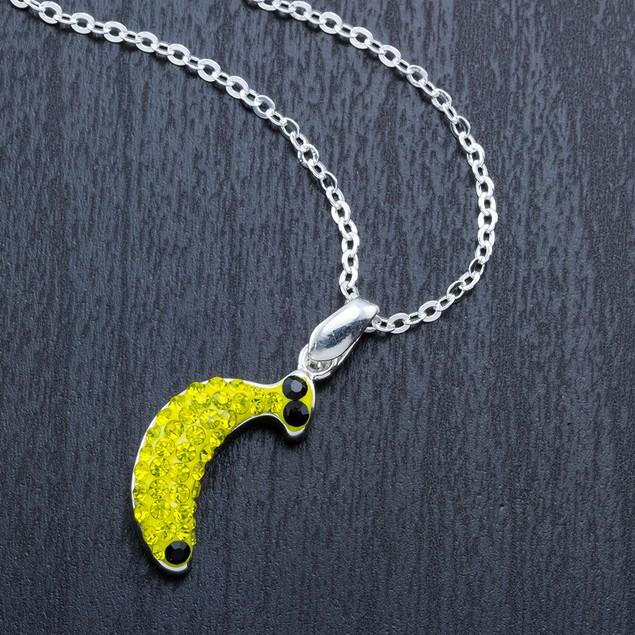 Crystal Novelty Fashion Necklace - Banana