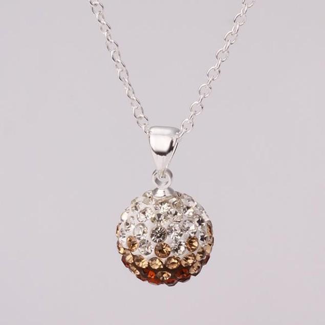 Multi-Toned Austrian Stone Necklace - Chamoagne