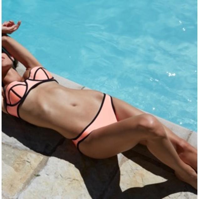 Neoprene Bra Style Swimwear Bikini Set
