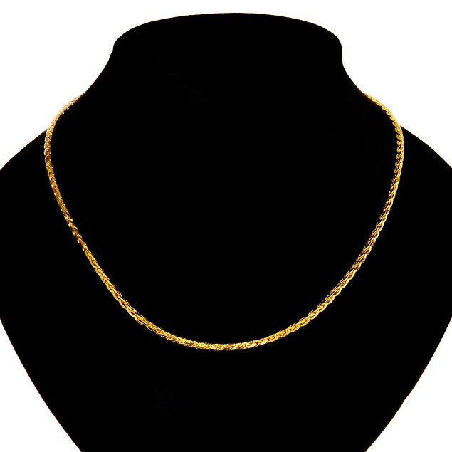 Cuban Design Gold Plated Necklace for Men