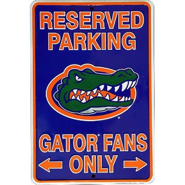 "Florida Gators NCAA ""Gator Fans Only"" Reserved Parking Sign"