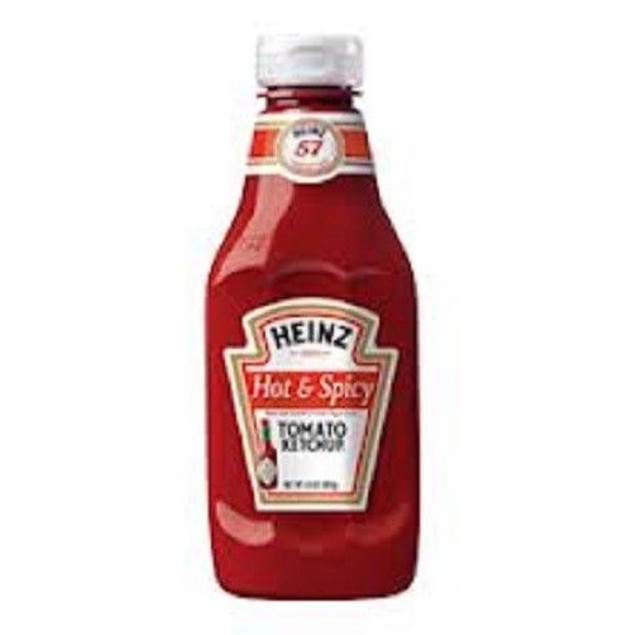 Heinz Hot & Spicy Tomato Ketchup 14 oz Bottle