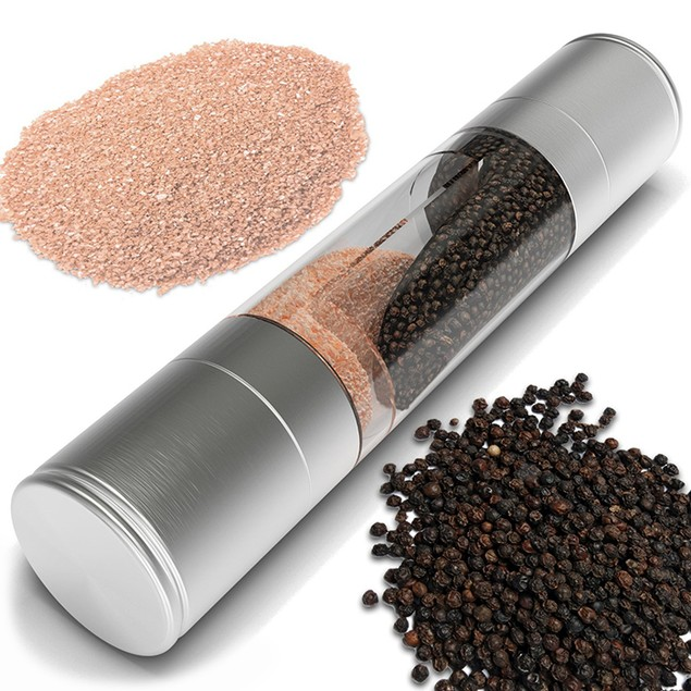2-in-1 Stainless Steel Salt & Pepper Grinder Set