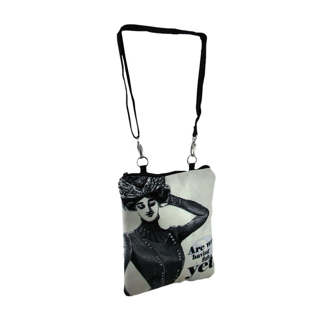 Are We Having Fun Yet Vintage Theme Padded Womens Cross Body Bags