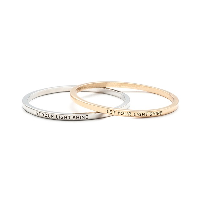 Let Your Light Shine Bangle Bracelet - 2 Colors
