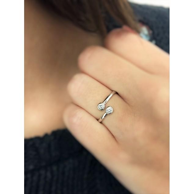 CZ Crystal Wrap Ring