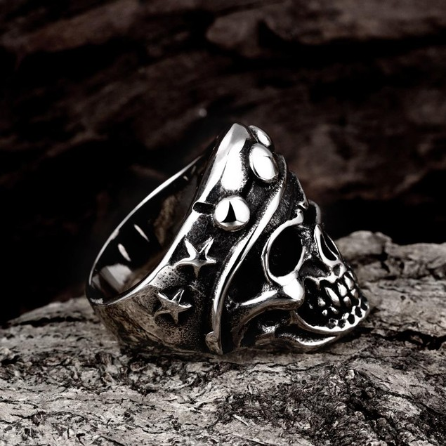 The Skull's Crown Stainless Steel Ring