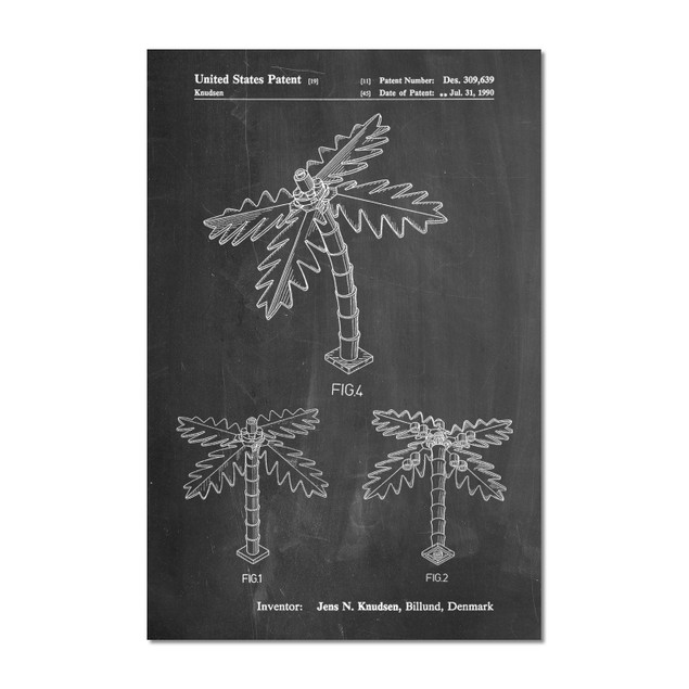 Lego Tree Patent Poster