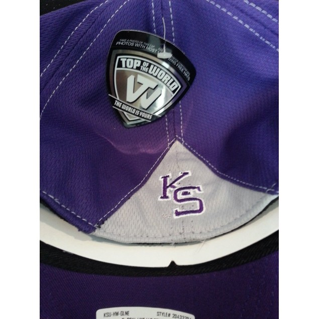 """Kansas State Wildcats NCAA TOW """"Goal Line"""" Stretch Fitted Hat"""