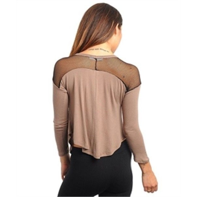 Juniors Mocha Black Top New
