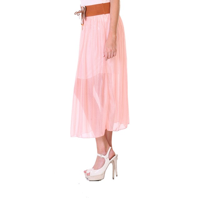 Belted Midi Skirt with Belt