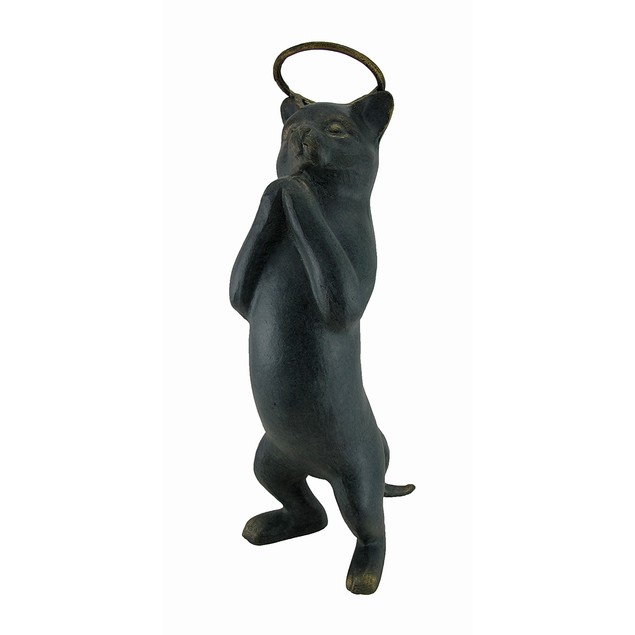 Innocence Cat With Halo Garden Sculpture Outdoor Statues