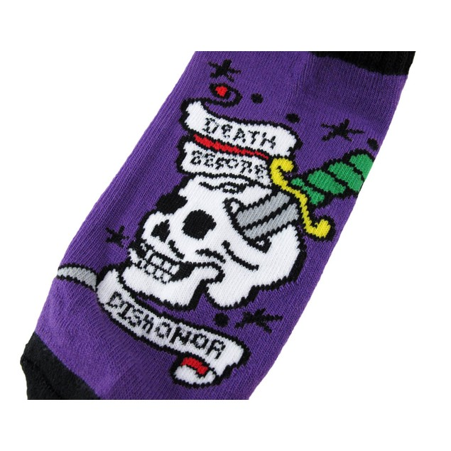 Women`S `Death Before Dishonor` Tattoo Heavy Ankle Womens Casual Socks